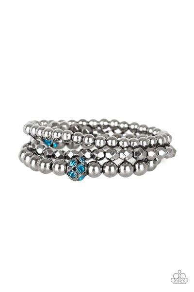 Noticeably Noir Blue Gunmetal Bracelet