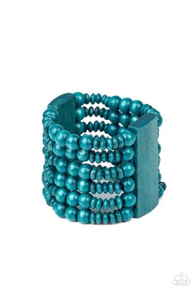 Don't Stop BELIZE-ing Blue Bracelet
