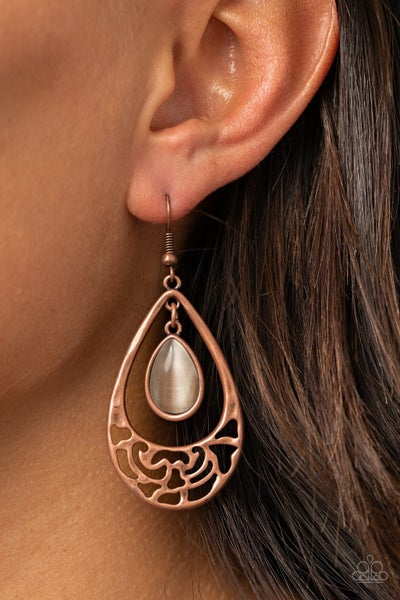 DEW You Feel Me Copper Earrings