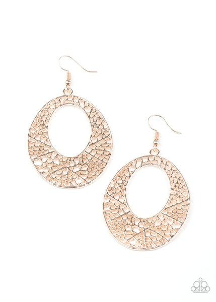 Serenely Shattered Rose Gold Earrings