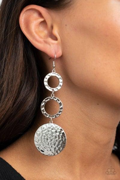 Blooming Baubles Silver Earrings