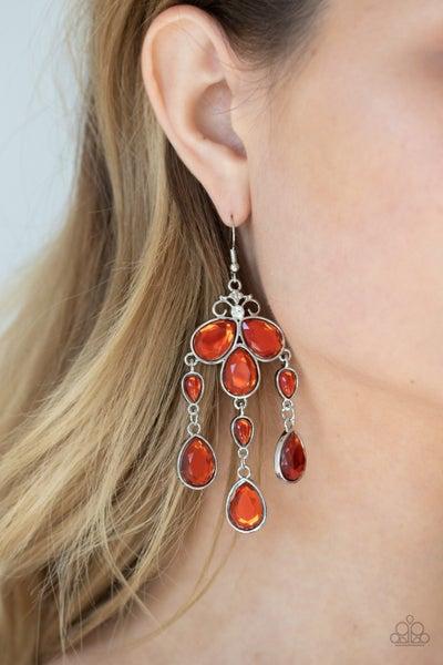 Clear The Heir Orange Earrings