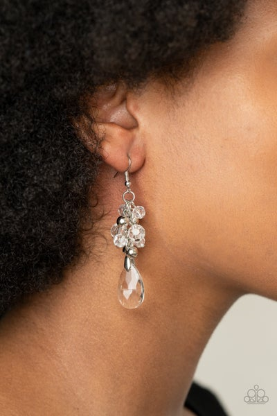 Before and AFTERGLOW White Earrings