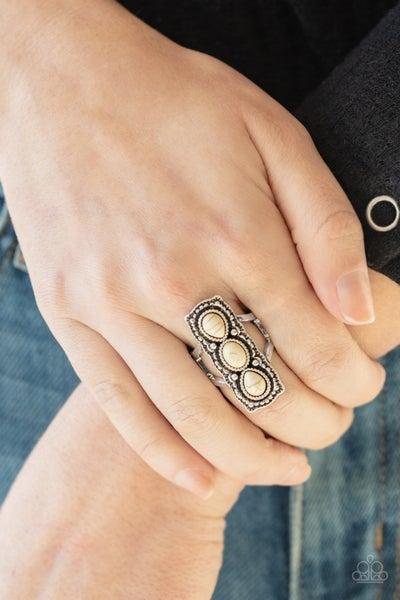 Desert Destiny White Ring