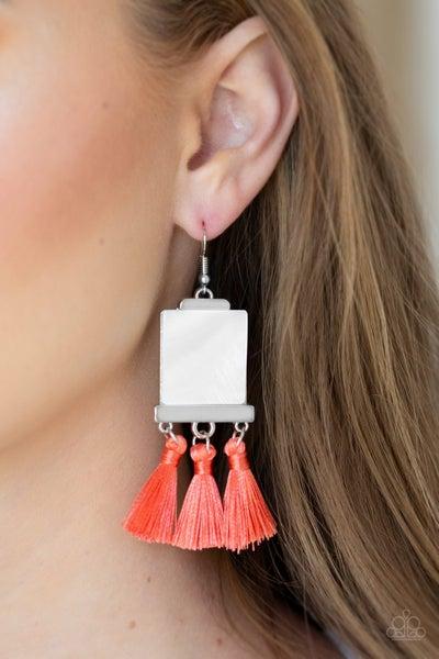 Tassel Retreat Orange Earrings