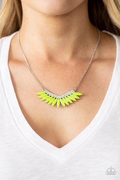 Extra Extravaganza Yellow Necklace