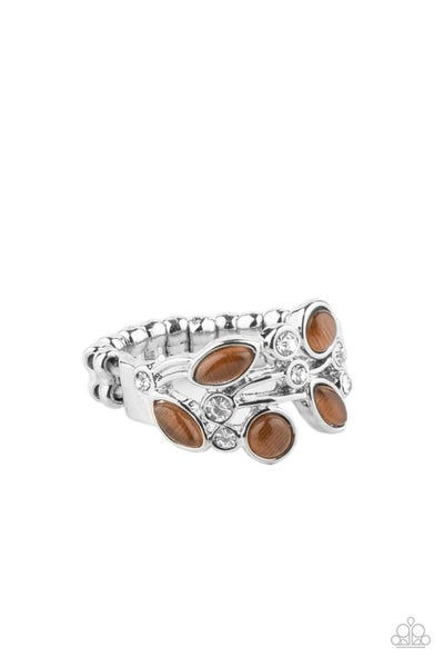 Leafy Luster Brown Ring