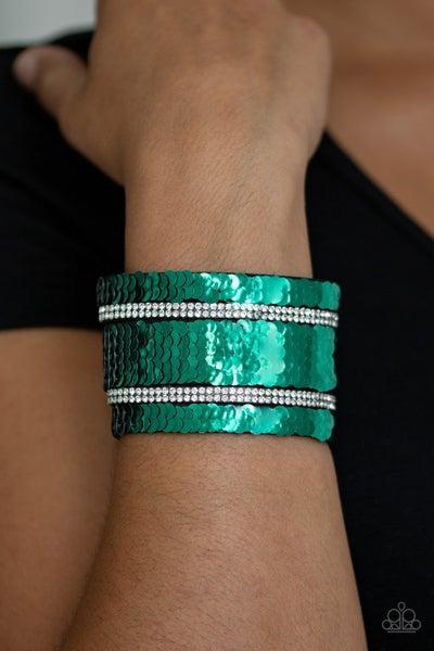MERMAID Service Green Silver Bracelet