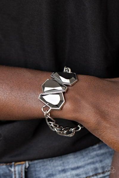 Raw Radiance Silver Bracelet