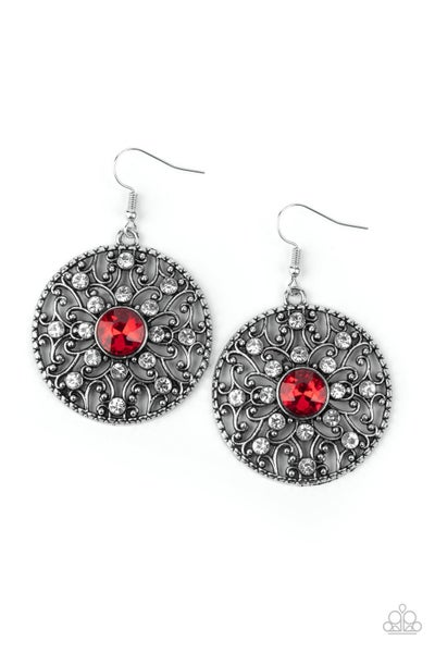 Glow Your True Colors Red Earrings