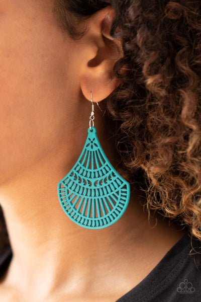 Tropical Tempest Blue Earrings