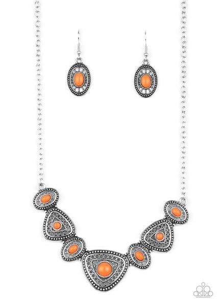 Totally TERRA-torial Orange Necklace