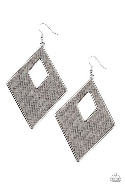 Woven Wanderer Silver Earrings