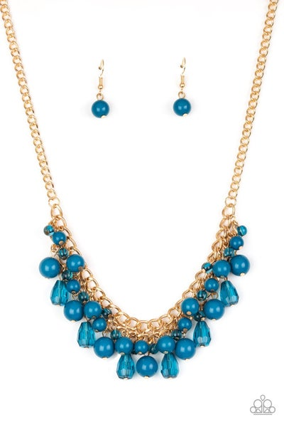 Tour de Trendsetter Blue Gold Necklace