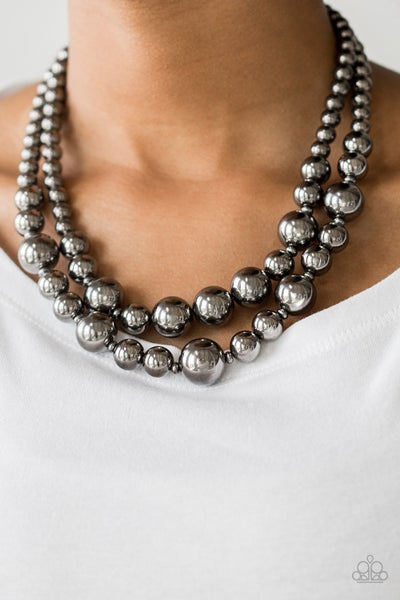 I Double Dare You Gunmetal Necklace