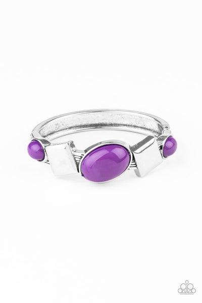 Abstract Appeal Purple Bracelet