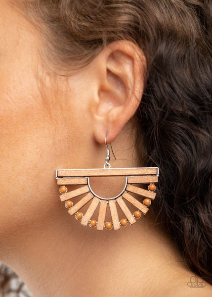 Wooden Wonderland Brown Earrings