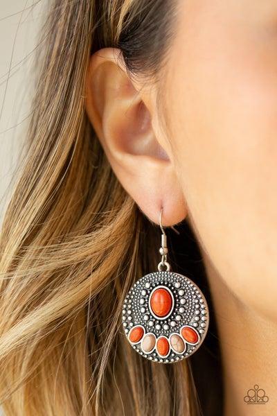 Sandstone Paradise Orange Earrings