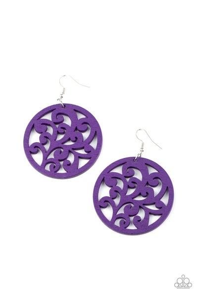 Fresh Off The Vine Purple Earrings