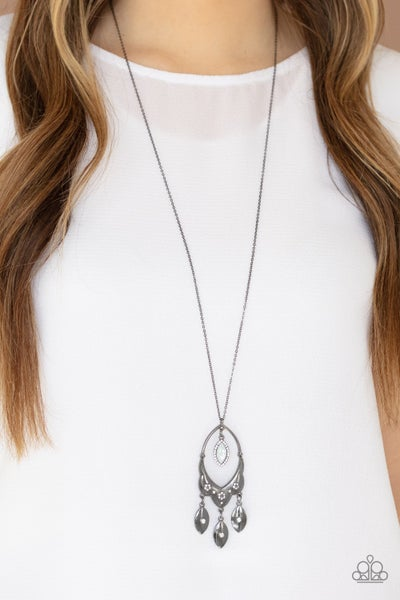 Royal Iridescence Gunmetal Necklace