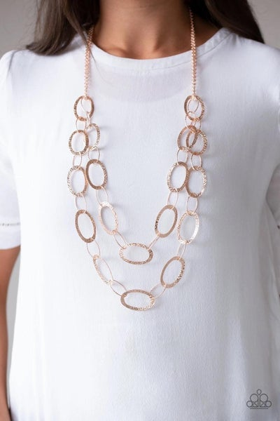 Glimmer Goals Rose Gold Necklace