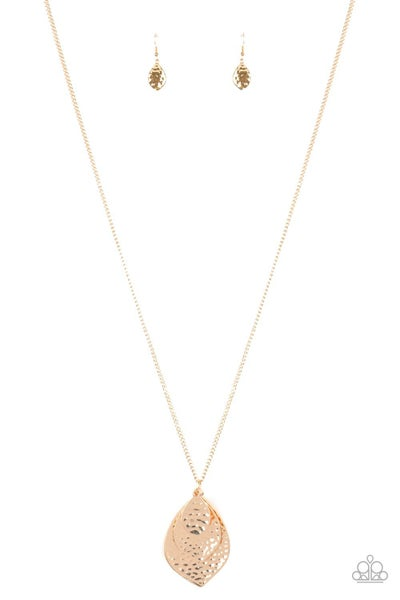Changing Leaves Gold Necklace