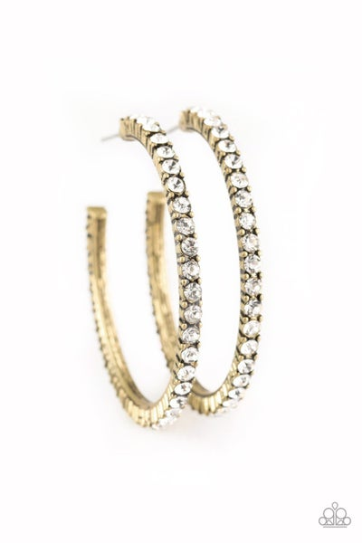 Must Be The Money Brass Hoops
