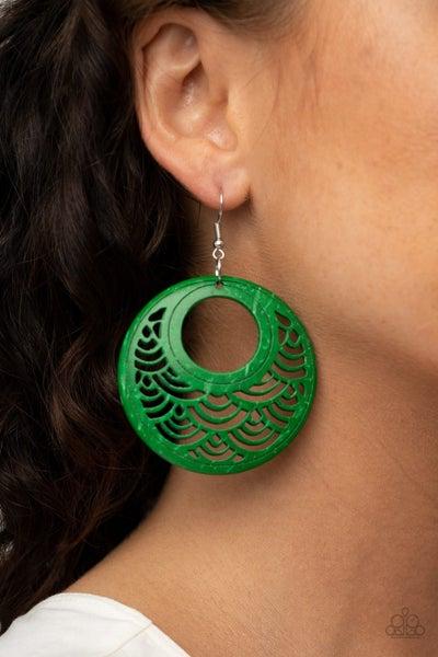 Tropical Canopy Green Earrings