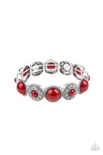 Garden Flair Red Bracelet