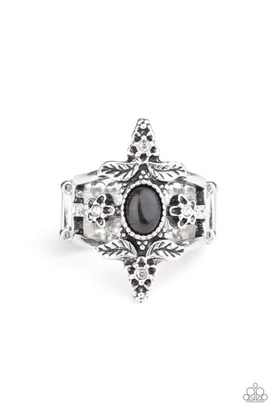 Fleur de Fancy Black Ring