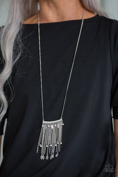 On The Fly White Necklace