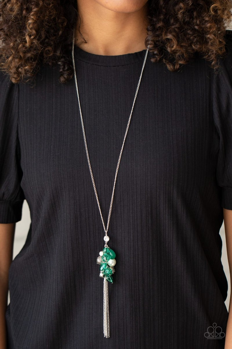 Party Girl Glow Green Necklace