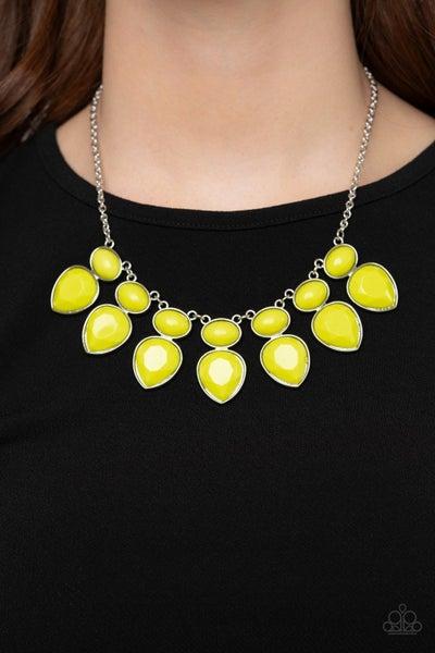 Modern Masquerade Yellow Necklace