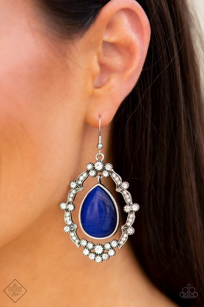 Icy Eden Blue Earrings