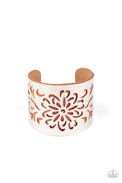 Get Your Bloom On Orange Bracelet