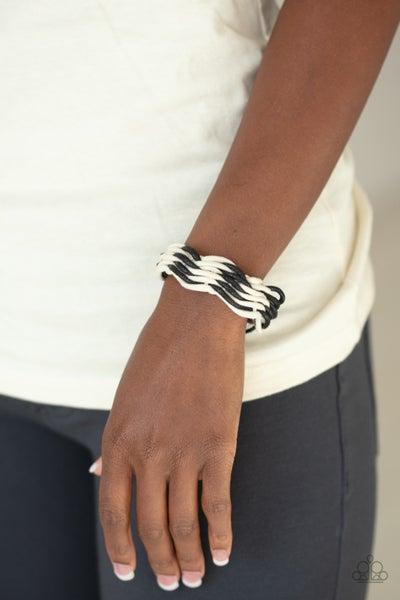 Weave HIgh And Dry Black White Urban Bracelet