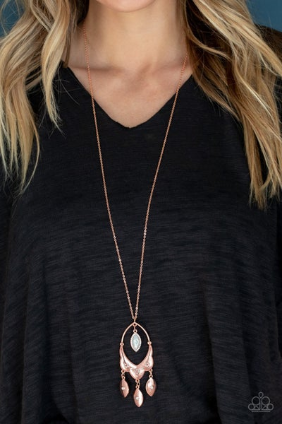 Royal Iridescence Copper Necklace