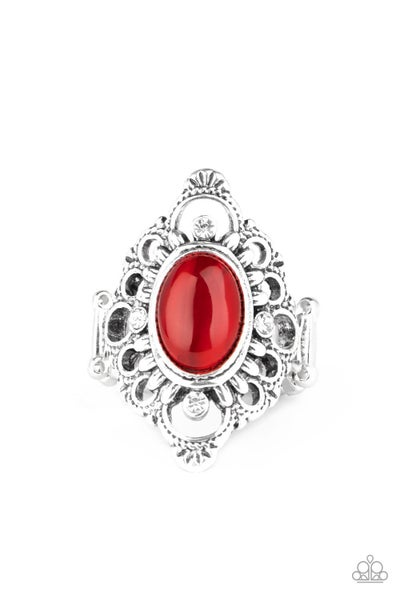 Elegantly Enchanted Red Ring