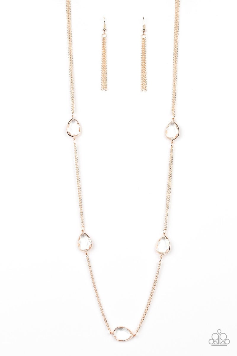 Teardrop Timelessness Rose Gold Necklace