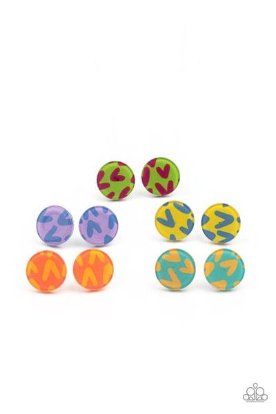 Heart Button Starlet Shimmer Earring Kit