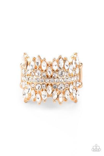 Cosmic Confetti Gold Ring
