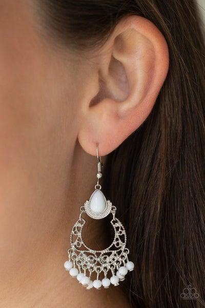 Colorful Colada White Earrings