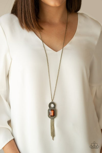 A Good TALISMAN Is Hard To Find Brown Brass Necklace
