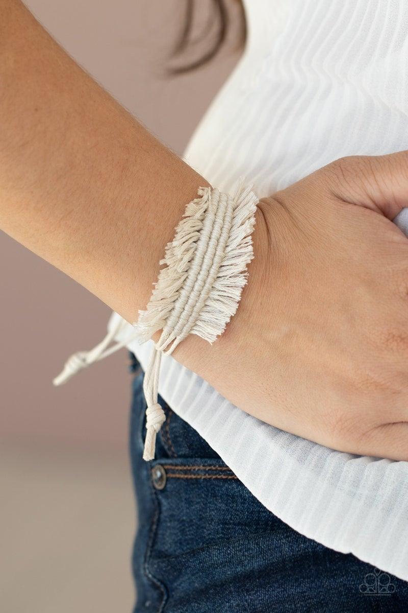 Make Yourself At Homespun White Bracelet