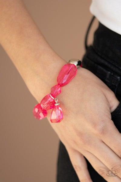 Gemstone Glamour Pink Bracelet