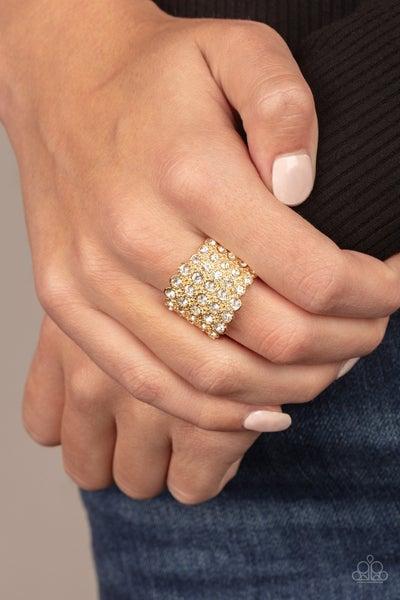 Million Dollar Masquerade Gold Ring