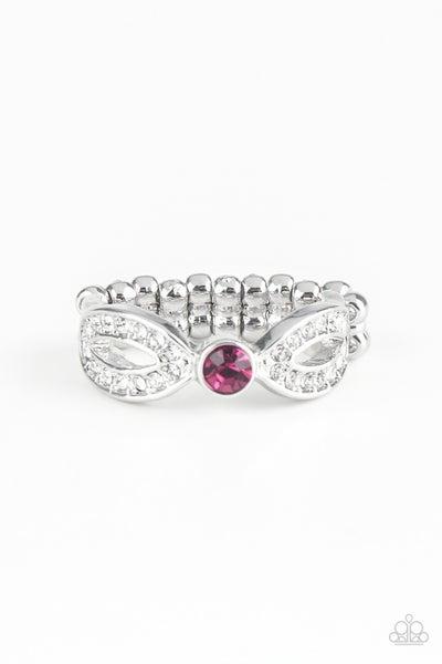 Extra Side Of Elegance Pink Ring