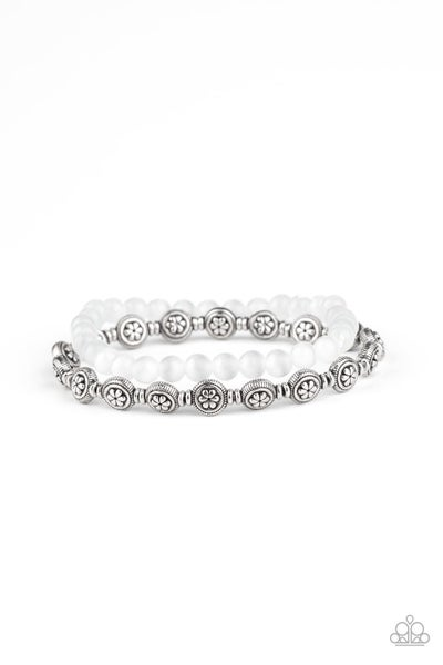 Dewy Dandelions White Bracelet