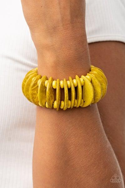 Tropical Tiki Bar Yellow Bracelet