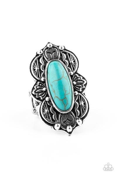 Lotus Oasis Turquoise Ring